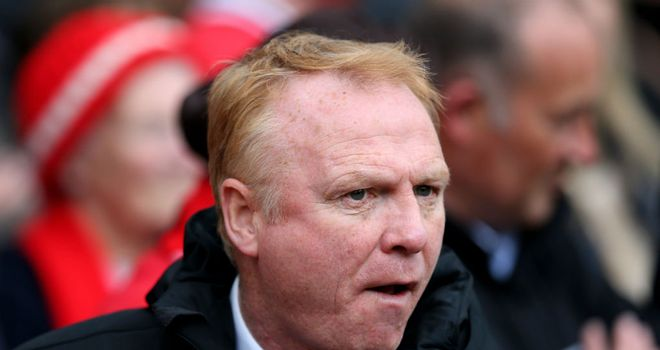Alex McLeish: Has come under fire from Villa's fans with the club facing relegation