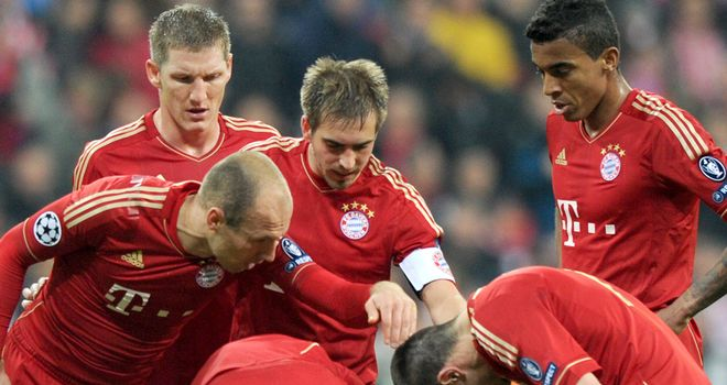 Arjen Robben and Franck Ribery: The pair suffered a much-publicised dressing room bust-up in April