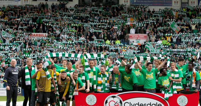 Celtic: Crowned Scottish Premier League champions at Kilmarnock