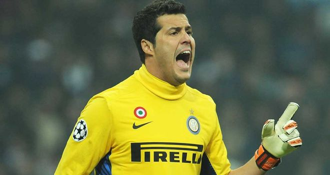 Julio Cesar: Looks set to leave Inter Milan