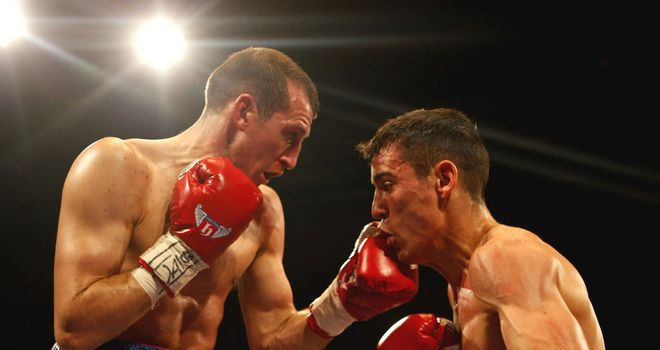 Derry Mathews (L) came out on top when he met Anthony Crolla earlier this year