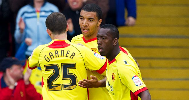 Deeney (c): Scored late on from the spot