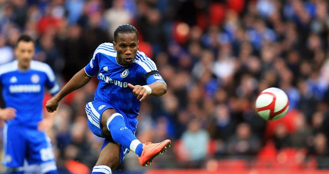 Didier Drogba: Chelsea striker has an impressive scoring record at Wembley