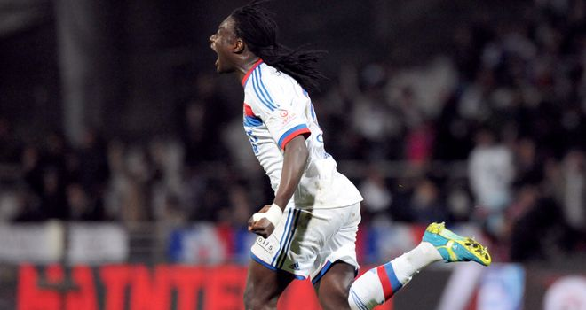 Bafetimbi Gomis: Bagged a brace for Lyon
