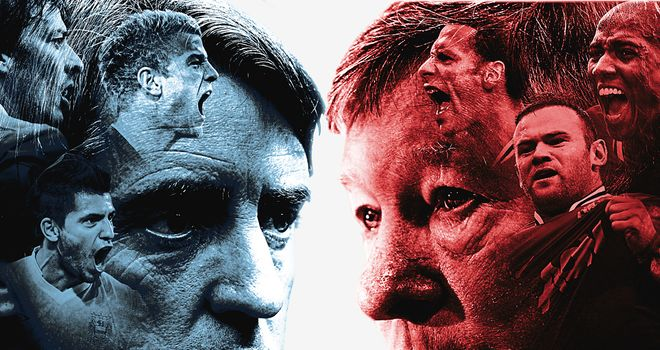 Roberto Mancini and Sir Alex Ferguson go head-to-head in a potential title decider