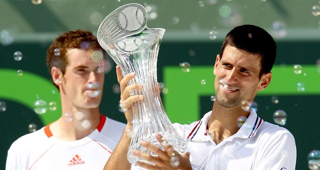 Novak Djokovic will attempt to defend his Miami title amid competition from Andy Murray