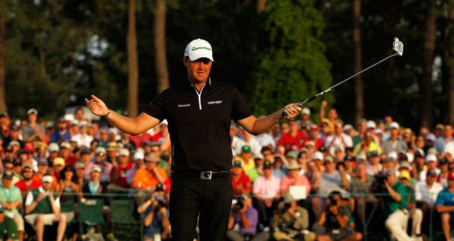 Peter Hanson: Surrendered overnight lead to finish joint third