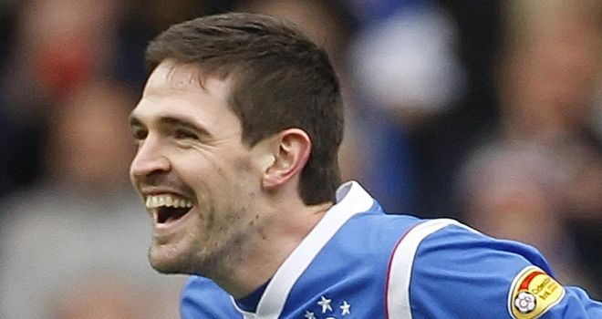 Lafferty: Celebrates his penalty
