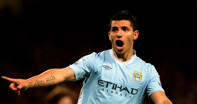 Sergio Aguero: The striker added two more goals to his collection as Man City beat West Brom 4-0