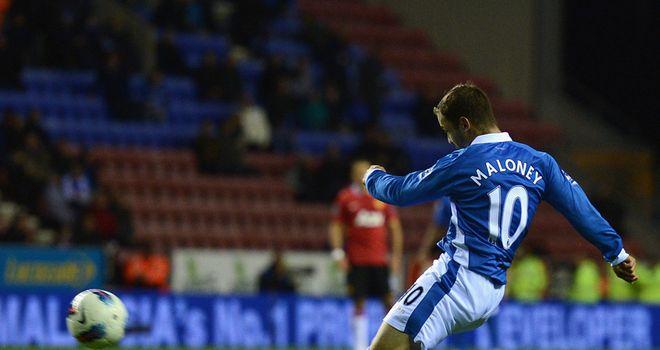 Shaun Maloney: Scored Wigan's winner against Manchester United on Wednesday