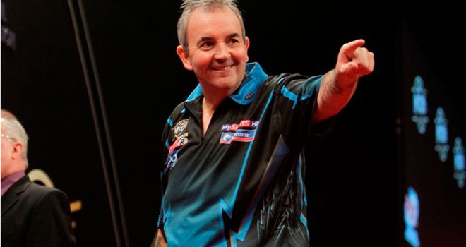 Phil Taylor: hit just four maximums all night but still came out on top
