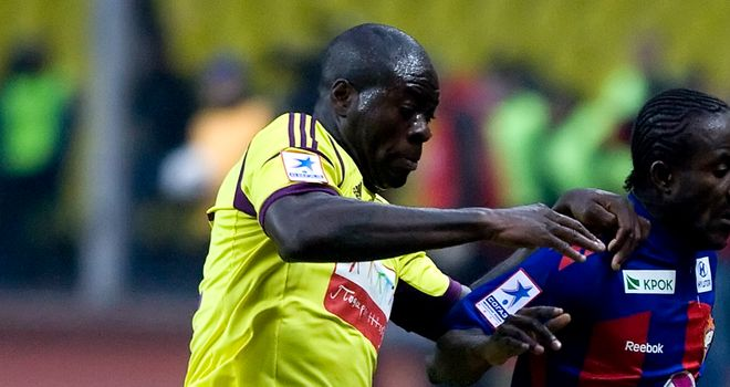 Chris Samba: Has left Anzhi&#39;s training camp