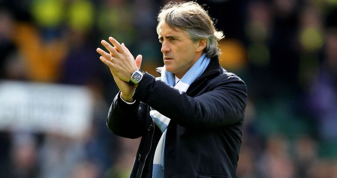 Roberto Mancini: Sticking to his claim that the title race is over