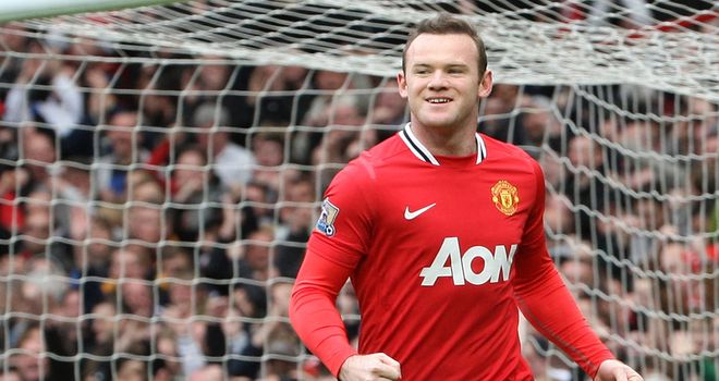 Wayne Rooney: Needs one more goal to tie George Best and Dennis Viollet as United's fourth-highest goalscorer