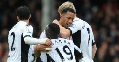 Dembele: Celebrates Fulham's second goal