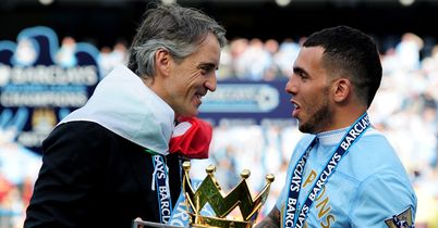 Carlos Tevez & Roberto Mancini: 'He is an important player because he has experience in this moment and also now he can help Mario which is important'