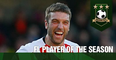 Lambert: Celebrates winning a TEAMtalk Soccers award