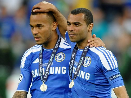 Bertrand (left) is happy to see Cole (right) stay at Chelsea