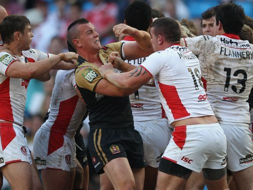 It all went off in the second half of Saints v Wigan