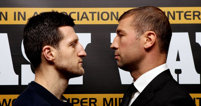 Up close and personal: Froch (L) cannot let Bute dictate matters from afar
