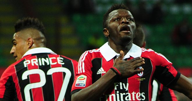 Sulley Muntari: Sidelined for six months