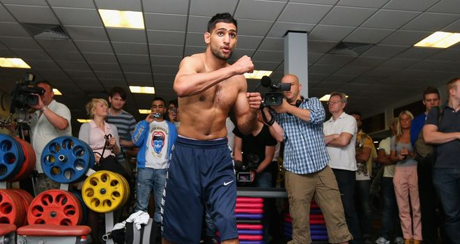 Khan: will tackle Danny Garcia on July 14