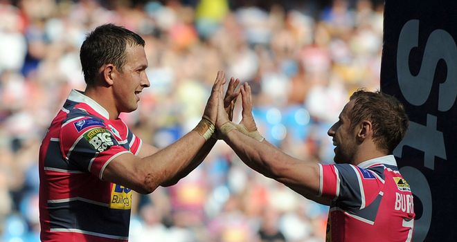 Rob Burrow (r): Full of praise for Danny McGuire