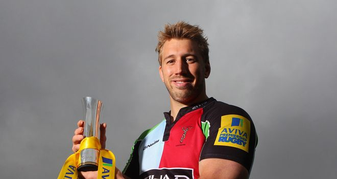 Chris Robshaw: winner of the Aviva Premiership Player of the Season award