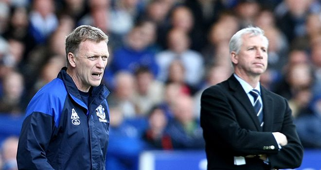 David Moyes: Aiming to get one over on Newcastle counterpart Alan Pardew