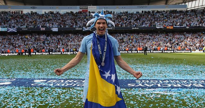 Edin Dzeko: Planning on sticking around at the Etihad Stadium