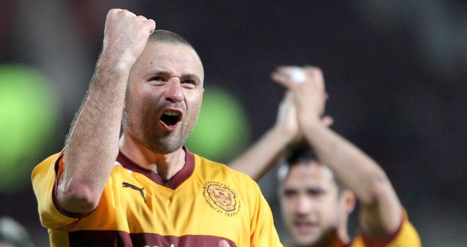 Higdon: Celebrates at Tynecastle