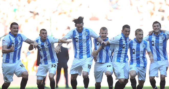 Huddersfield: Celebrate victory