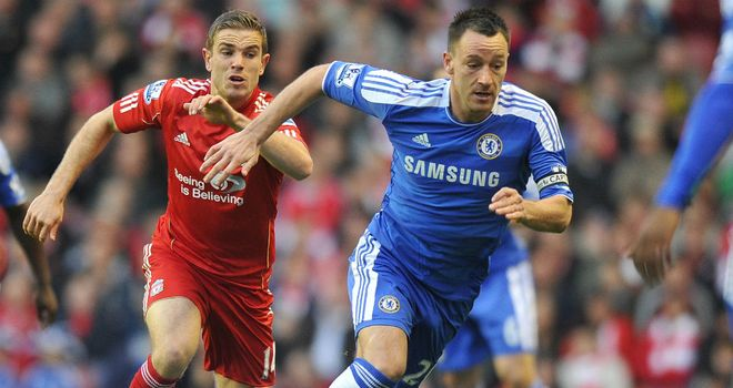 John Terry: Has recieved the backing of his club manager Roberto Di Matteo after he endured a torrid night against Liverpool on Tuesday