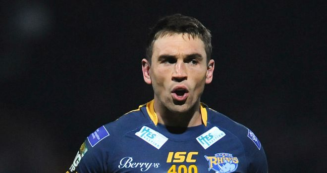 Kevin Sinfield: hoping to book another trip to Wembley by upsetting the odds this weekend