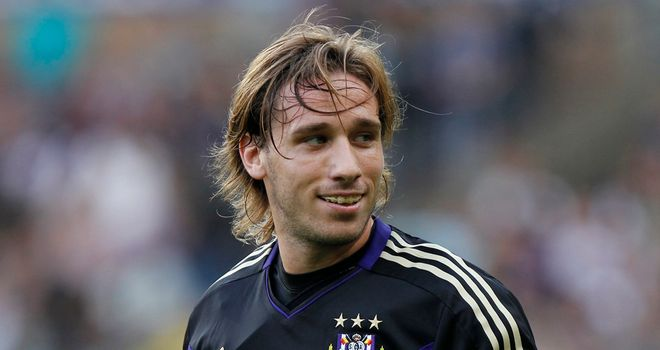 Lucas Biglia: Is keen to test himself at a higher level and could leave Anderlecht next month