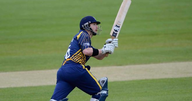 Mark Stoneman: hit 18 fours and a six in his unbeaten hundred for the hosts