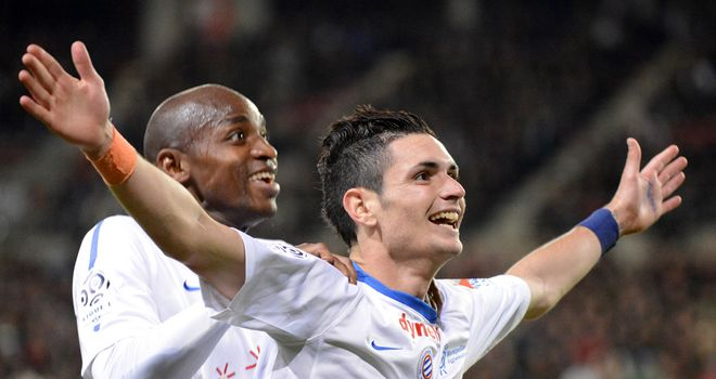 Remy Cabella: On target for Montpellier in their draw with PSG