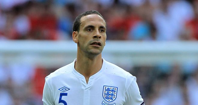 Rio Ferdinand: Defender will still be backing England despite being overlooked for Euro 2012