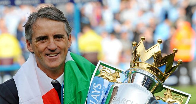 Roberto Mancini: Got his hands on the Premier League title in 2011/12