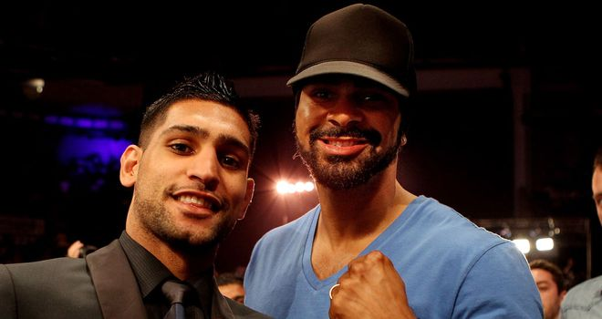 Amir Khan (L) can return to the top according to David Haye