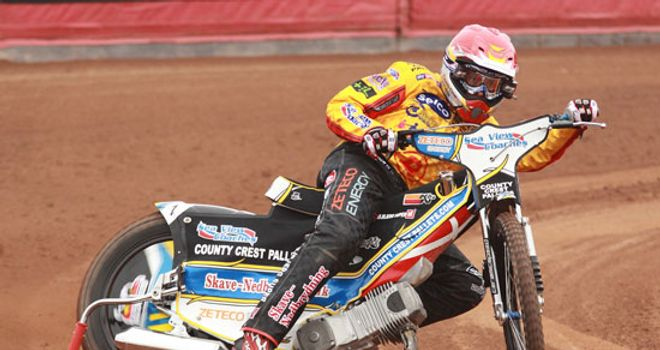 Birmingham Brummies' Bjarne Pedersen in action (picture credit: Claire Swatman)