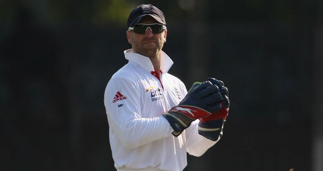 Matt Prior: England wicketkeeper top scored in first innings with 48
