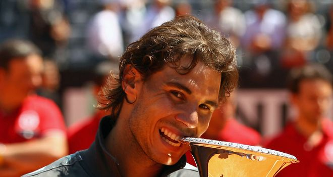 Rafael Nadal: Celebrating regaining the Rome title last year