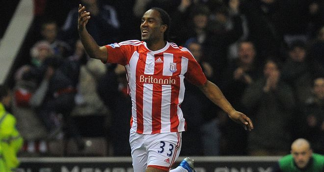 Cameron Jerome: The Stoke striker took his goal tally to eight for the season against Everton on Tuesday