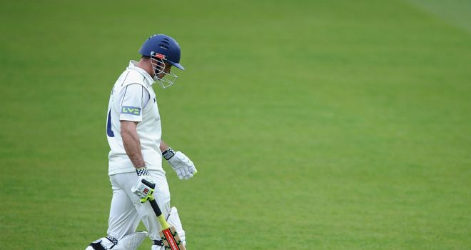 Andrew Strauss: struggled for runs over the winter