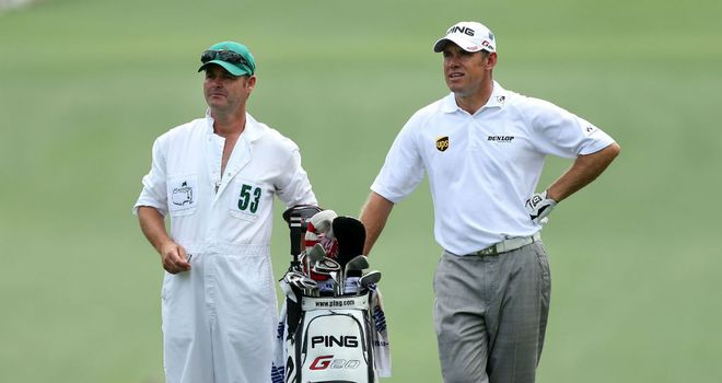 Lee Westwood (R) has opted to part company with Billy Foster (L)