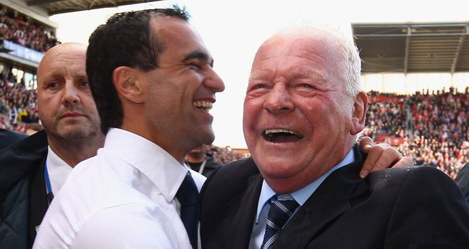 Roberto Martinez and Dave Whelan: Chairman expects to lose his manager at some point