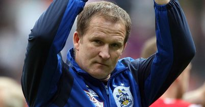 Simon Grayson: Happy with a share of the spoils