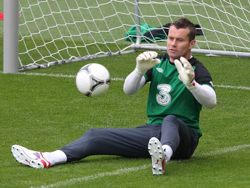 Shay Given: Back in training