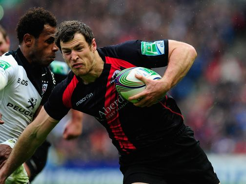 Visser: Grabbed a try for Edinburgh